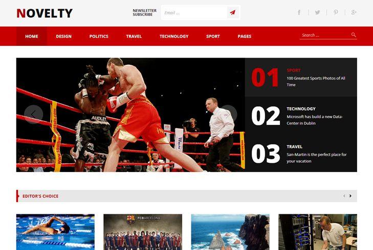 Meet Novelty – our new Magazine WordPress Theme