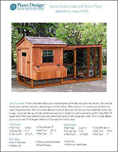 Backyard Chicken Coop Plans with Kennel / Run, Salbox ...