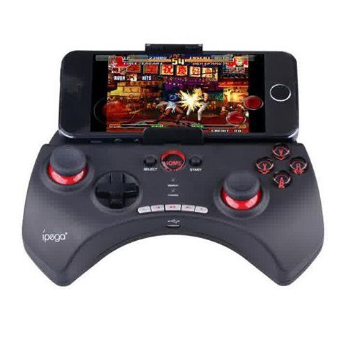 Ipega Mobile Wireless Gaming Controller Bluetooth 3.0 for Apple and Tablet PC with Multimedia Keys  with black color, now you can play game with a stick in your phone with this new design, feature with bluetooth, you don't have to install anything, play game with a whole new experience with this ipega gaming controller.  http://zocko.it/LE59P