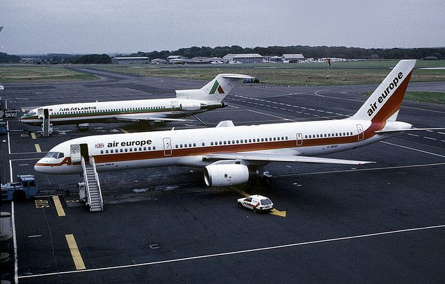 24122 Boeing 757-236 G-BNSF Air Europe Newcastle Airport | Flickr - Photo Sharing!