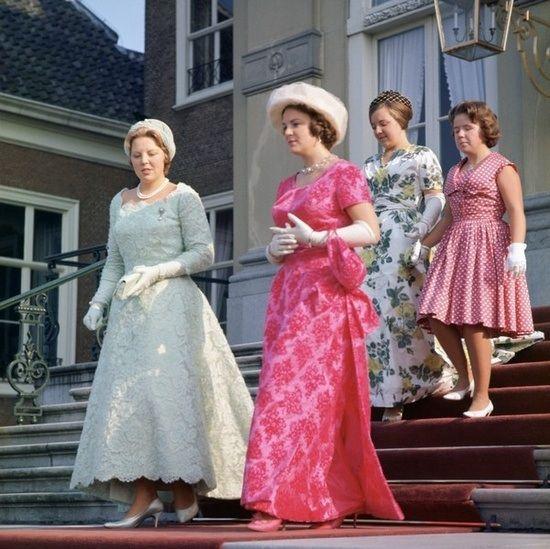 Princesses Beatrix, Irene, Margriet & Christina of the Netherlands