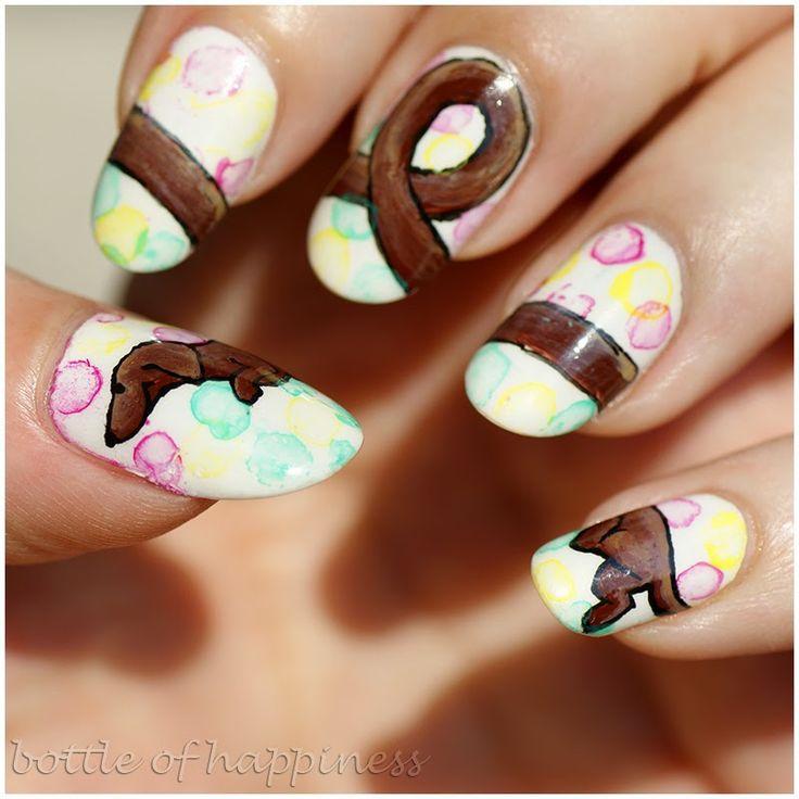 AllePaznokcie ~One Colour Exclusive~ 01 + acrylic paint #nails #nailart