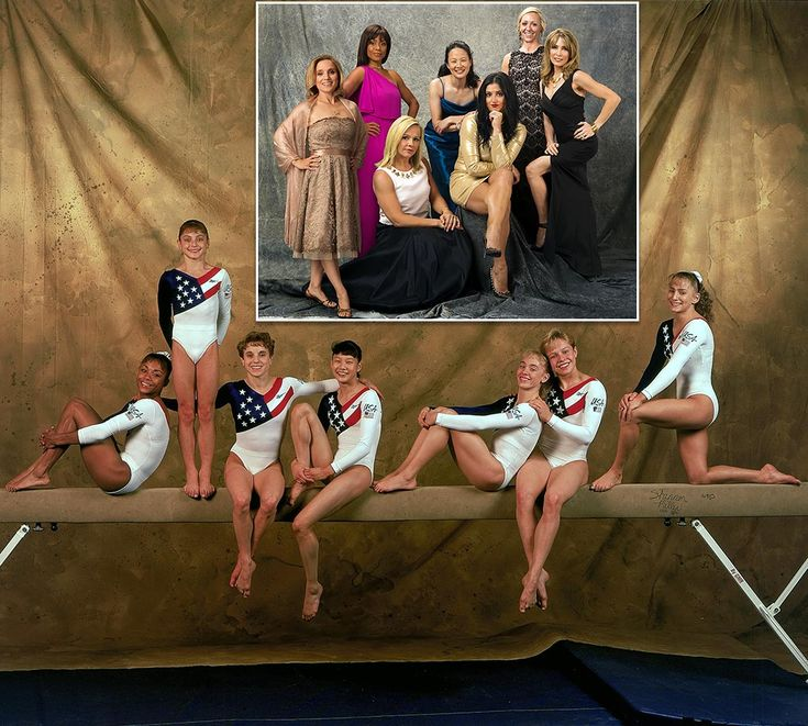 The Magnificent Seven — Dominique Dawes, Dominique Moceanu, Kerri Strug, Amy Chow, Jaycie Phelps, Amanda Borden and Shannon Miller — the 1996 U.S. Olympic women's gymnastics team that won the first ever gold medal for the United States in the women's...