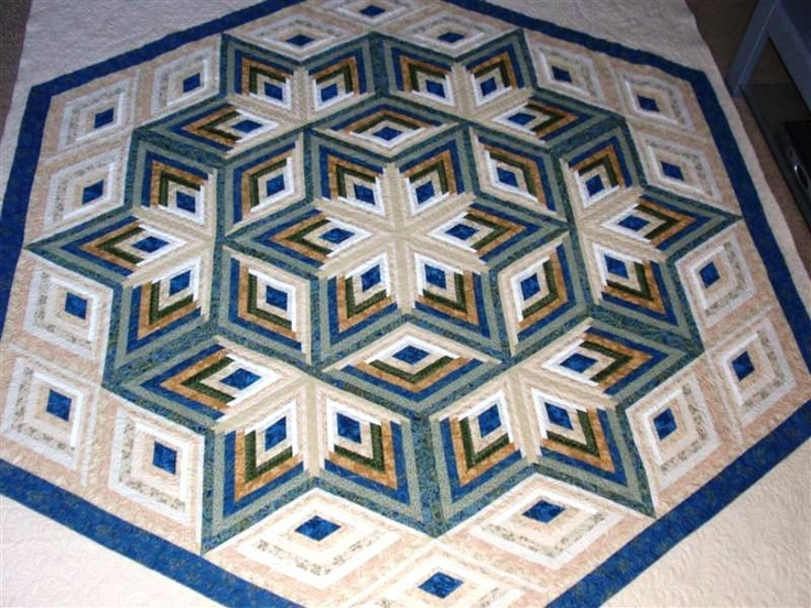 Diamond Log Cabin Star Great For A Quilt Tree Pattern