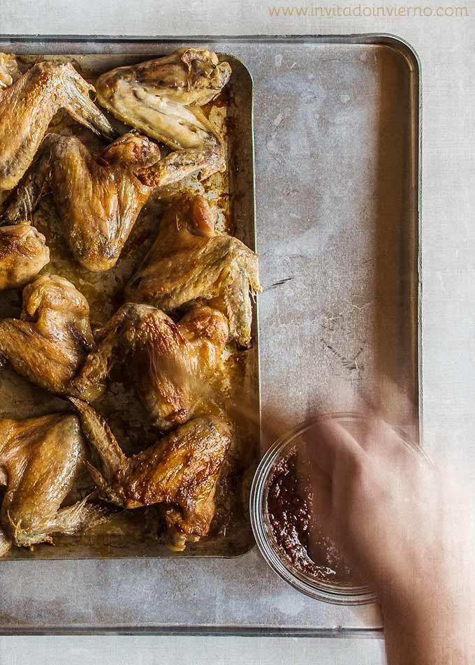 Alitas de pollo al horno con salsa barbacoa