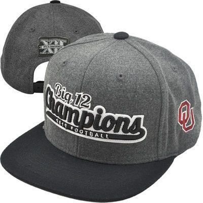 Top of the World Oklahoma Sooners 2012 Big 12 Football Champions Locker Room Snapback Hat - Gray/Black