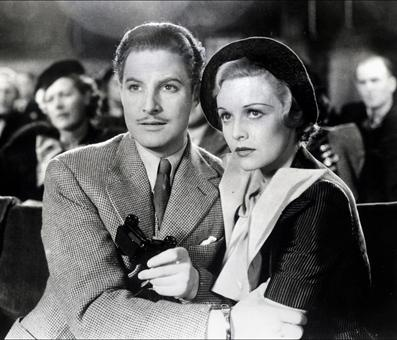 "Robert Donat and Madeleine Carroll in ""The 39 Steps"" (1935)"