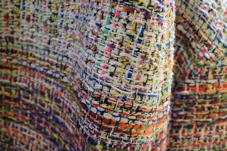 gorgeous weave.  Chanel, via Susie Bubble