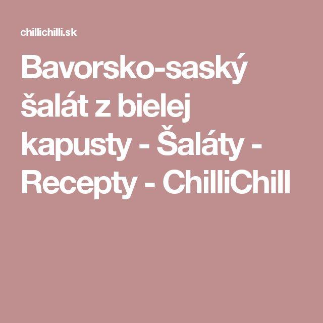Bavorsko-saský šalát z bielej kapusty - Šaláty - Recepty - ChilliChill