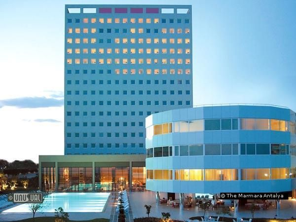 Worlds only SPINNING hotel. The Marmara Antalya in Sirinyali Antalya Turkey.