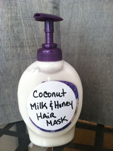 DIY Hair Treatment: Coconut Milk & Honey Hair Mask - whole can of coconut milk and about 2 tablespoons of honey.