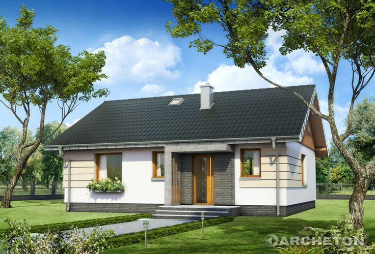 Projekt domu Mikro Eko - mały i energooszczędny domek parterowy z 3 pokojami