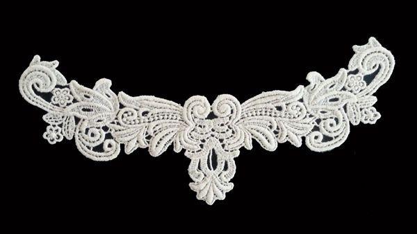 Sewing Material Neck Lace Cotton Chemical Motive Lace Ivory 1pcs - n011 #Ansoyoung