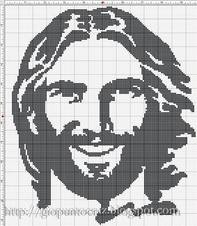 Punto de cruz en blanco y negro | Aprender manualidades es facilisimo.com