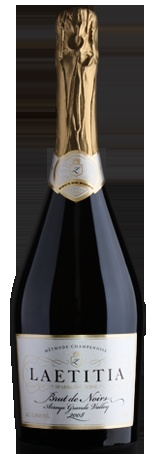 A sparkling wine made entirely from Pinot Noir grapes, the Laetitia Brut de Noirs is separated from its skins after pressing to keep the natural color of the Pinot Noir juice and highlight its beautiful fresh fruit characteristics.