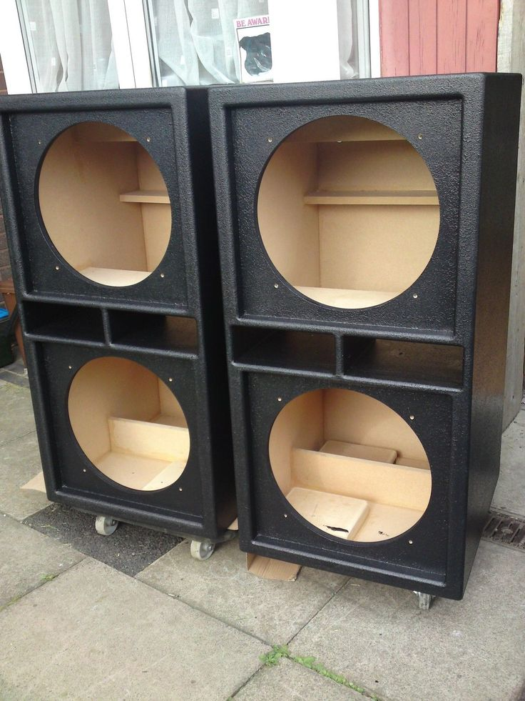 """Details about PAIR of Double 15"""" bass bins speaker boxs ..."""