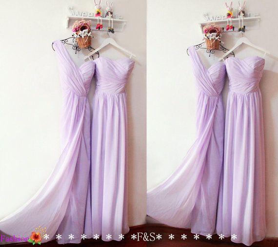 Lilac Bridesmaid Dress,Long Chiffon Prom Dress,Simple Prom Dress,Christmas Graduation Dress,Chiffon Grey Bridesmaid Dress,Bridesmaid Dress