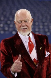 Canadian Flag tie.                                         The Famous Don Cherry, He Is HOCKEY !