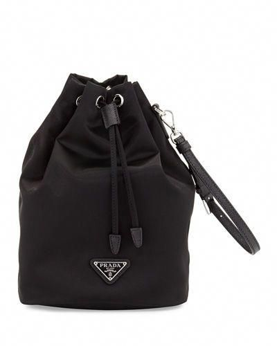 fd448d93ac75 L662B Prada Nylon Drawstring Pouch #Pradahandbags | Prada handbags ...