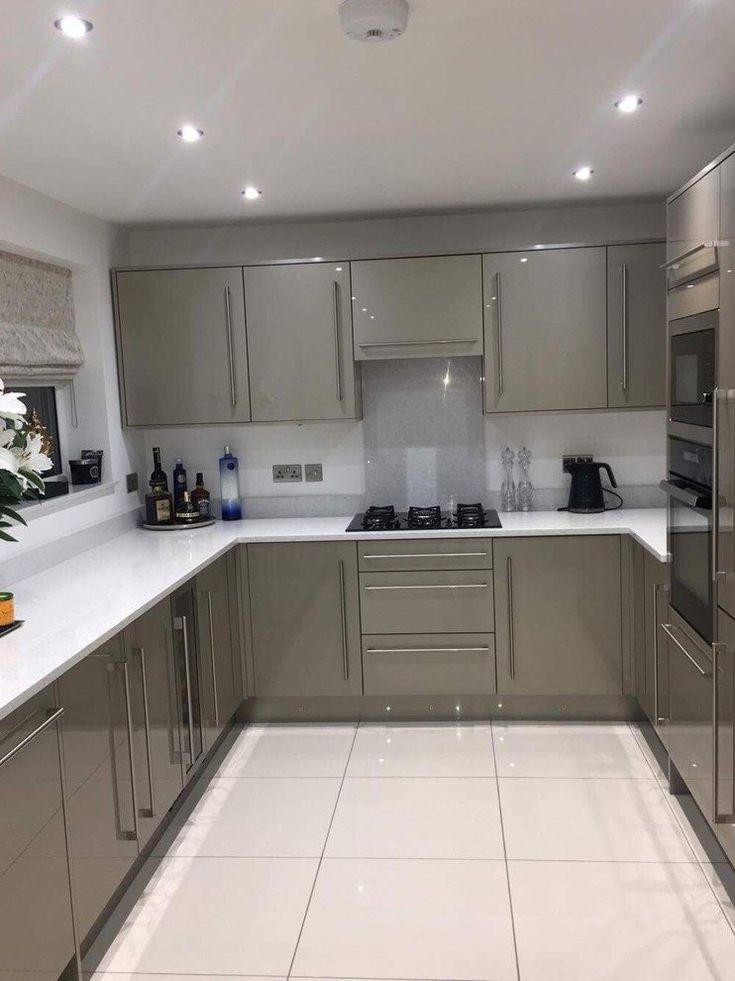 High Gloss Kitchen Cabinets Diy An Innova Altino Champagne ...