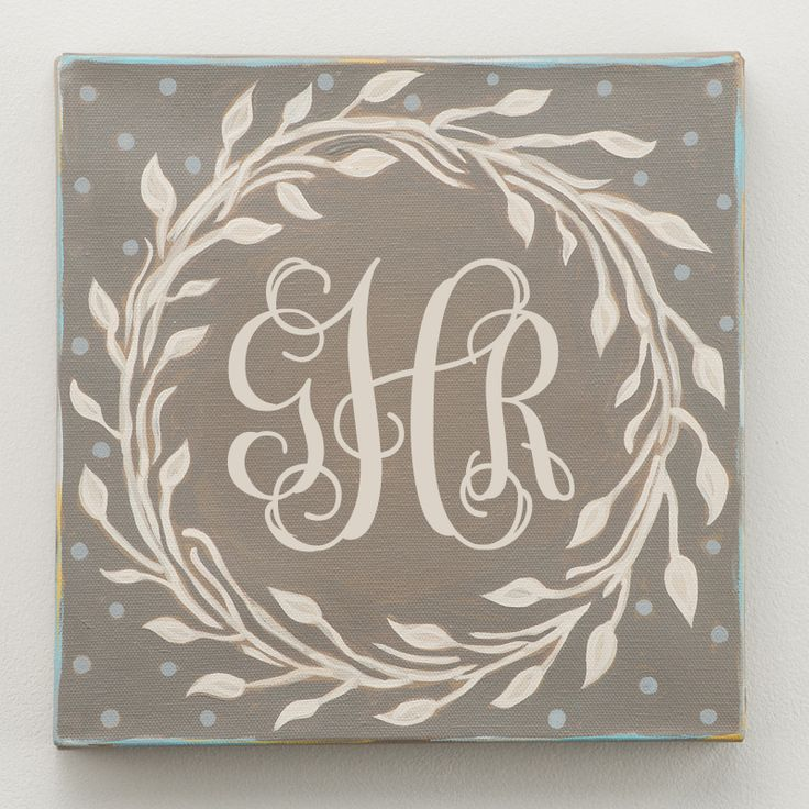 Glory Haus - Laurel Wreath Monogram Canvas
