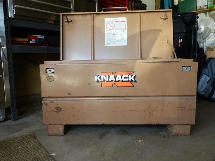 """KNAACK TOOL BOX/ GANG BOX in stratdog's Garage Sale in Turlock ,  for . KNAACK TOOL BOX/GANG BOX for SALE!!!!!  PERFECT item for Millwrights, Contractors and handyman. HEAVY DUTY, made of steel and built to last. 42"""" long, 22"""" in height and 19"""" deep. Lots of storage with removable tray and dual locks. No dents or damage, closes with ease.  TEXT [Phone Number removed] for more information or make offer."""