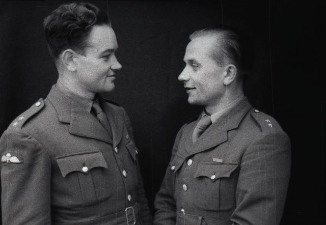 "Jan Kubiš and Jozef Gabčík./// killers of a ""Real Nazi"" mass murderer."
