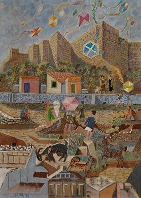 """Νίκος Χατζηκυριάκος - Γκίκας """"Χαρταετοί στην Ακρόπολη"""" 1952"""