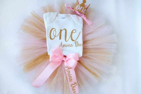 First Birthday Girl Outfit  1st Birthday by AdelineRoseBoutique