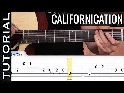 Como tocar Californication en guitarra acústica COMPLETO - YouTube