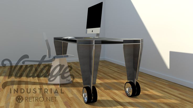 Aluminum Caster Table by Vintage Industrial Furniture