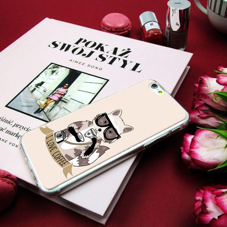 I love coffee - funny case for phone Cudowne zwierzaki na etui do telefonu #case #etui #style #fashion