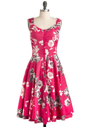 Drawn to Your Beauty Dress, #ModCloth