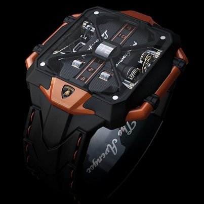 The Lamborghini Avenger Vertical Tourbillon Watch Concept