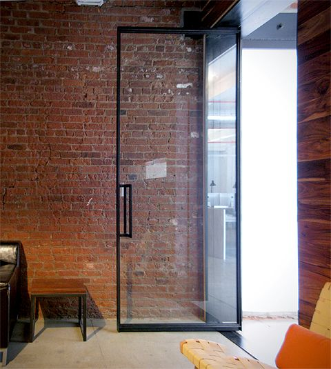 unique commercial glass entry | the LAB – Steel Frame Glass Doors http://www.garretyglass.com/