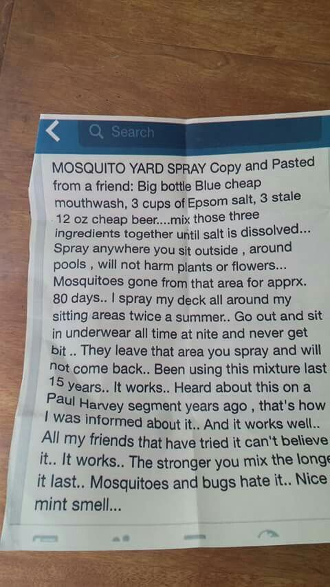 Yard Spray for Mosquitoes