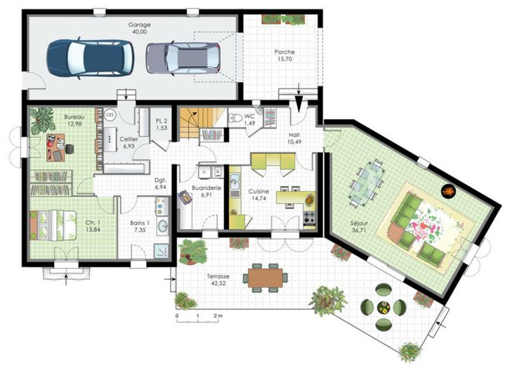 Plan maison bbc plain pied mt99 jornalagora for Plan maison contemporaine bbc