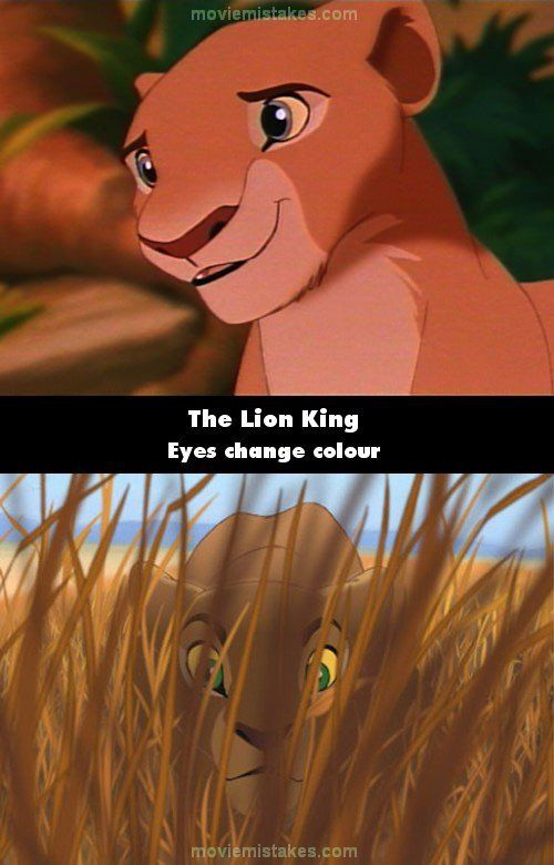 The Lion King movie mistake picture