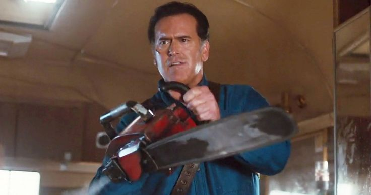 'Ash Vs. Evil Dead': Watch the First 4-Minutes of the Pilot -- Bruce Campbell is back as the beloved Ash Williams, who has a bizarre encounter in a local dive bar in 'Ash vs. The Evil dead'. -- http://movieweb.com/ash-vs-evil-dead-first-4-minutes/