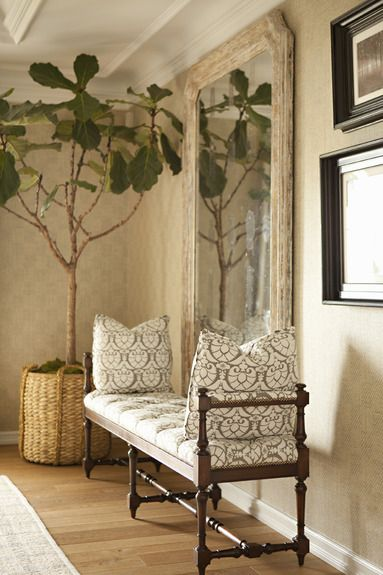 settee and mirror entry