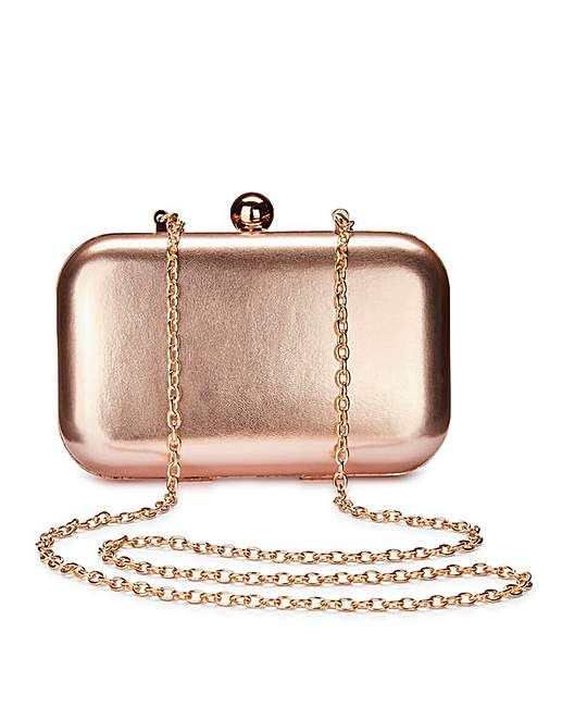 Alice Rose Gold Clutch Bag | Fashion World