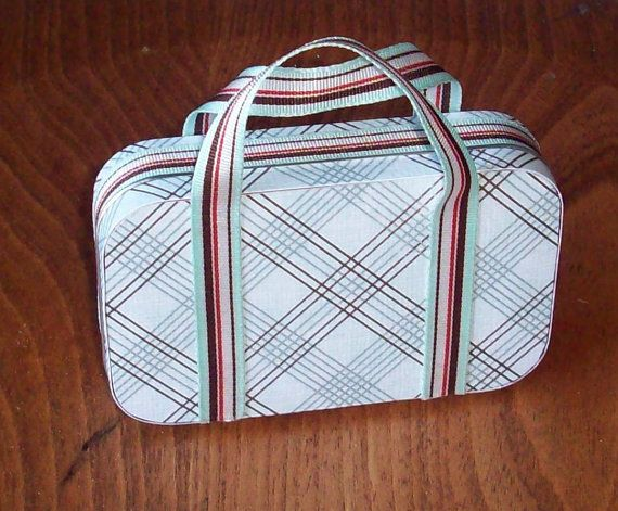 Altered Altoid Mint Tin Suitcase Gift Box ~ Super Cute Idea