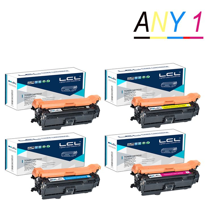 Any 1 LCL 651A CE340A CE341A CE342A CE343A (1-Pack Black Cyan Magenta Yellow) Toner Cartridge Compatible for HP PRO 700/M775