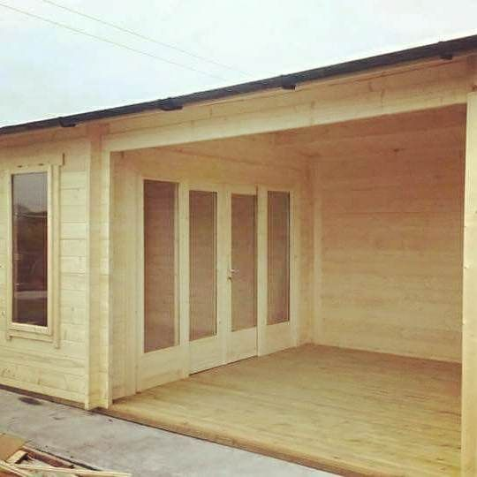 Log Cabin Installed In Ireland #logcabin