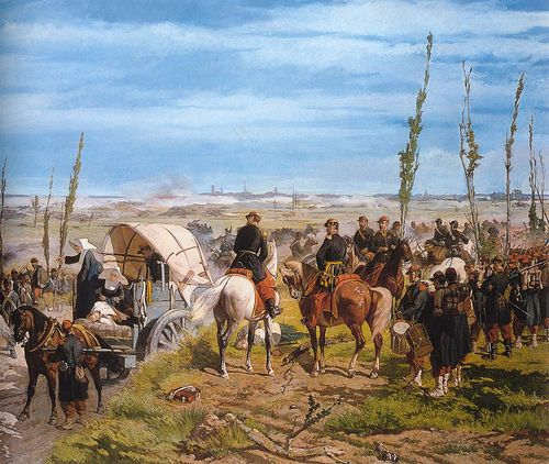 Fattori, Giovanni (1825-1908) - 1859 The Italian Camp During the Battle of Magenta (Gallery of Modern Art, Florence)