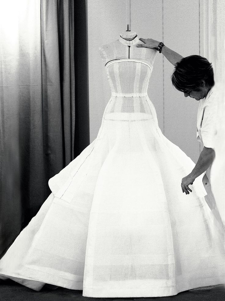 Inside the fashion Atelier - dressmaking; haute couture fashion studio // Dior