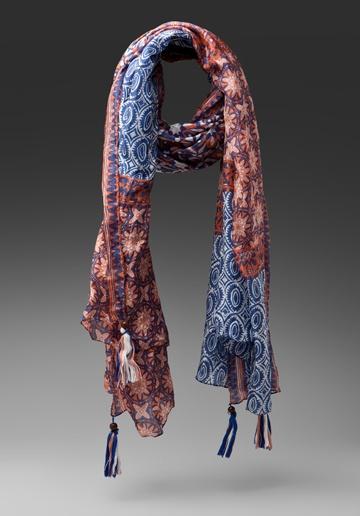 MICHAEL STARS Bali Batik Silk Wrap Scarf in Edgewater at Revolve Clothing - Free Shipping!
