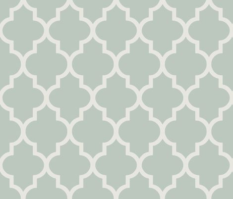 Classic Ogee in Perfect French Gray-Green fabric by sparrowsong on Spoonflower - custom fabric