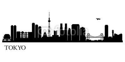 ベクター: Tokyo city silhouette点
