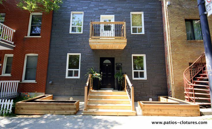 Balcon En Bois Montreal : Cedar Balcony